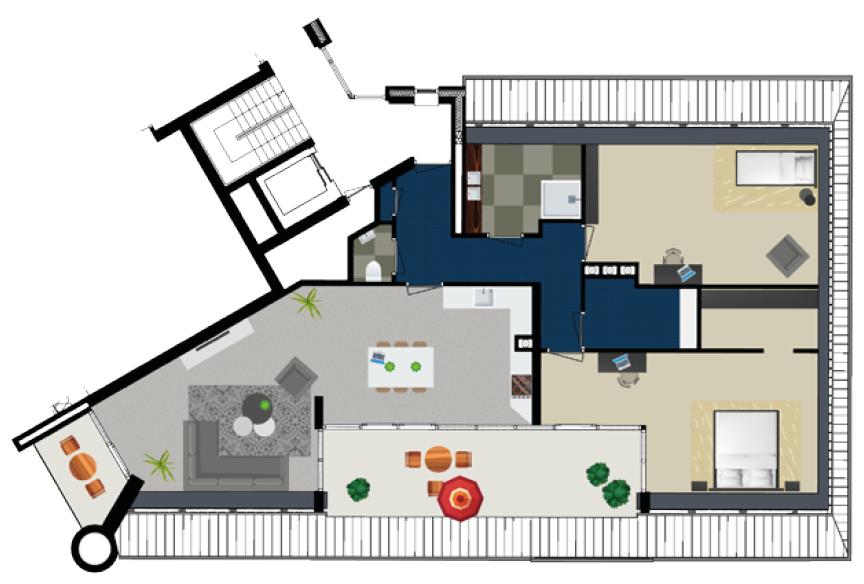 Penthouse 2e verdieping